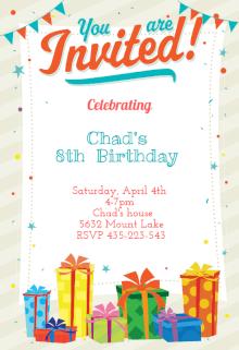 Invitation birthday party card birthdayorganizer invitation card stopboris Image collections